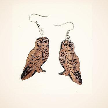 Pueo Hawaiian Owl Earrings