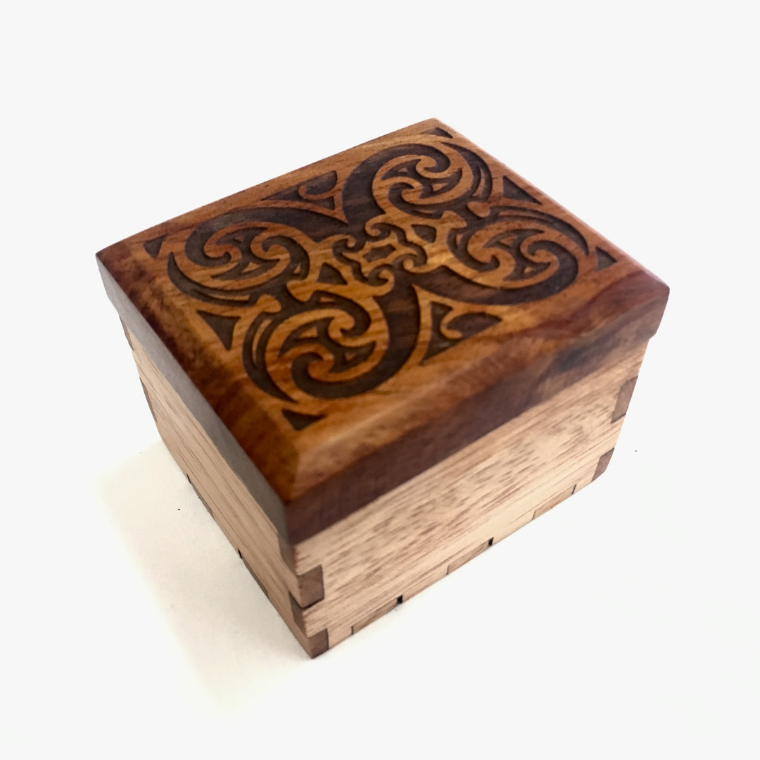 little jewerly box with koa engraved top