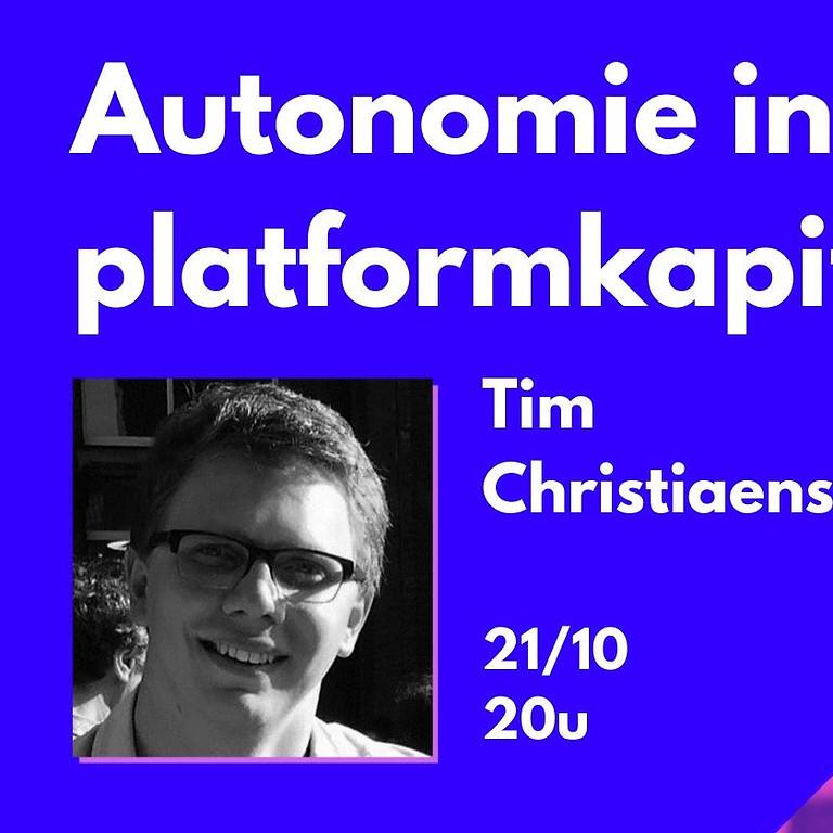 Lezing: Autonomie in tijden van platformkapitalisme