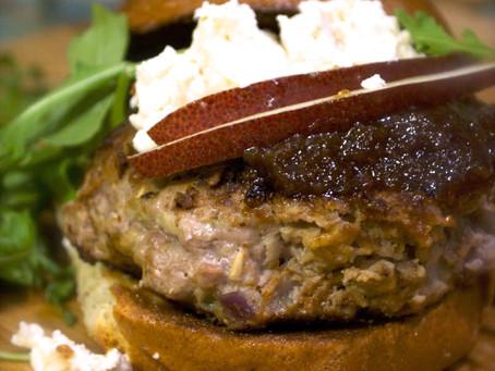 Sweet and Sharp Turkey Burgers