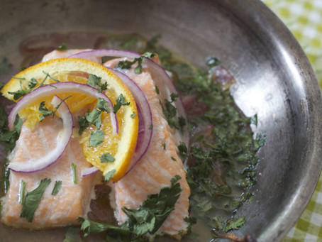 Salmon with Cilantro and Orange
