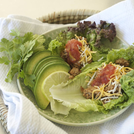 Turkey Tacos (lettuce wrapped)