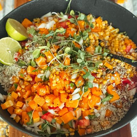 End of Summer Corn and Butternut Salad // Weeknight Meals