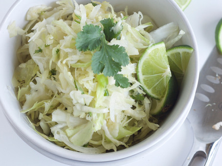 Fresh Cabbage Salad with Mint
