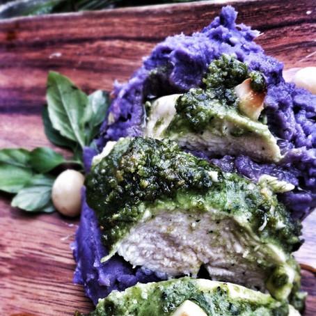 Kona Chicken and Purple Potatoes (paleo, gf)