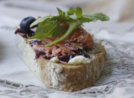 Breakfast Tartine with Salmon