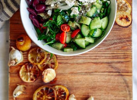 Lemon-y Greek Salad+Dressing