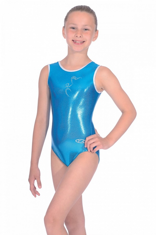 Sleeveless Shiny Nylon Lycra Club Leotard