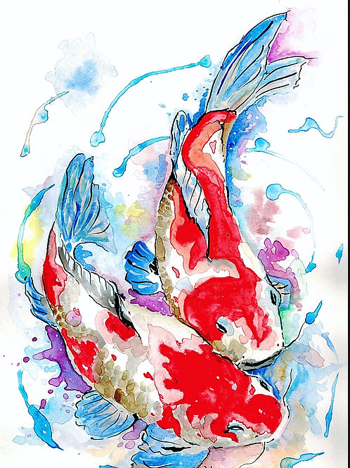 Koi x Red, White and Blue