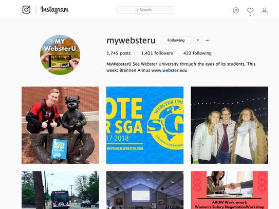 MyWebsterU Instagram