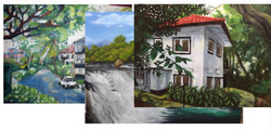 Traditional Art - Landscape Painting in Acrylic