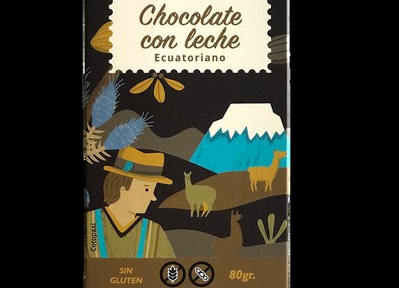 Barra de chocolate con leche