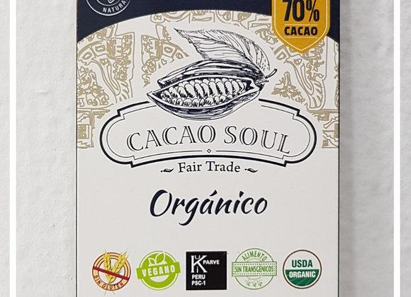 Barra de Chocolate orgánico 70% cacao