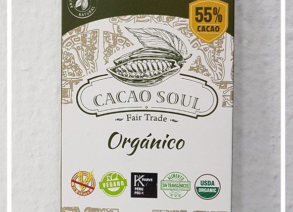 Barra de Chocolate orgánico 55% cacao