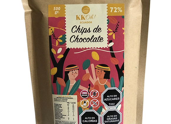 Chips de chocolate 72%