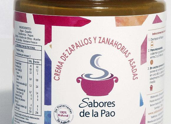 Crema de Zapallos y Zanahorias Asadas