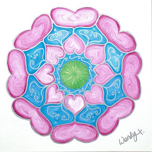 Fine Art Print - Heart Mandala