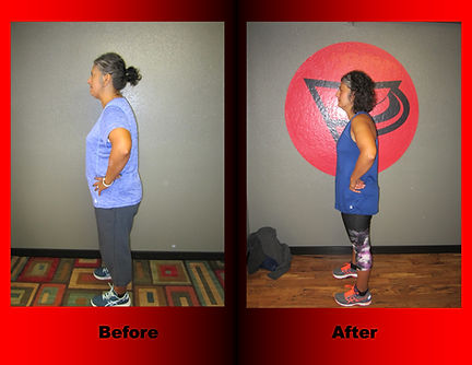 Angie Sellers' body transformation.