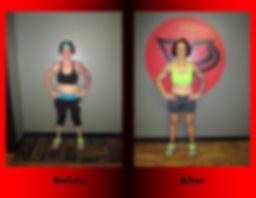 Kate Gutierrez's body transformation.