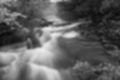 Blurred water in river