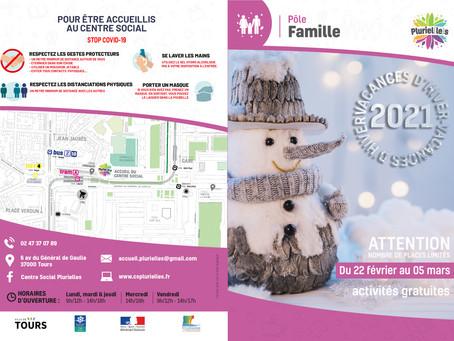 Programme des vacances d'hiver au pôle famille