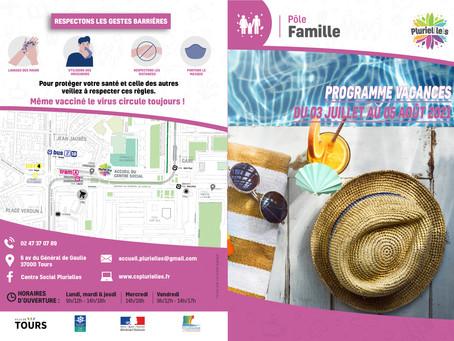 Programme des vacances Pôle Famille