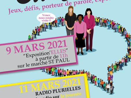 Fêtons la journée internationale des droits des femmes toute la semaine du 8 mars !!!