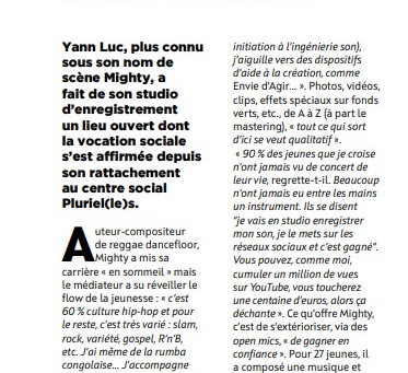 """Notre studio d'enregistrement à l'honneur dans le magazine """"ToursleMag"""" n°205 mars/avril 2021"""