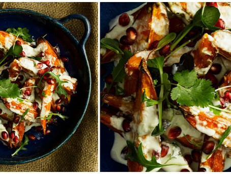 Sweet Potato Salad with Labneh Dressing