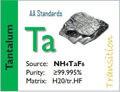 Tantalum (Ta) Flame Atomic Absorption