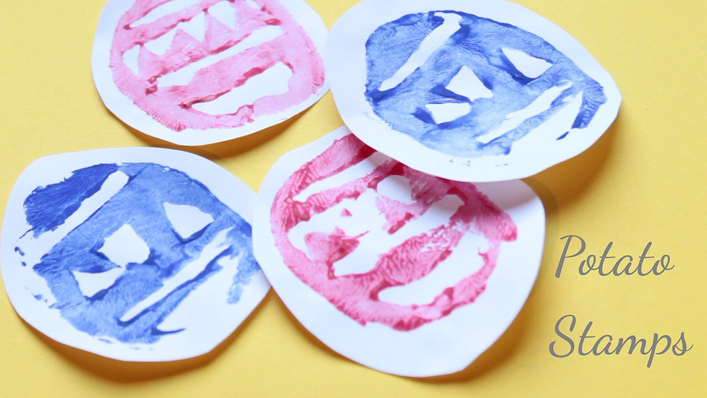 Easter Crafts Potato Stamps