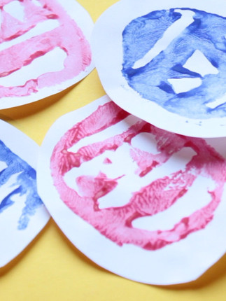Easter Crafts: Potato Stamps