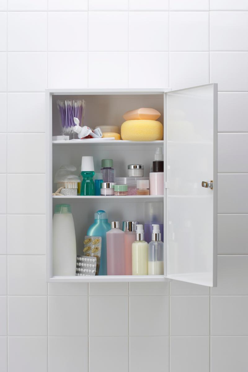 bathroom organisation aesthetic