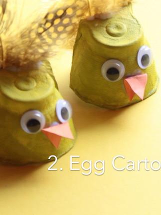 Egg Carton Chicks for Easter Crafts