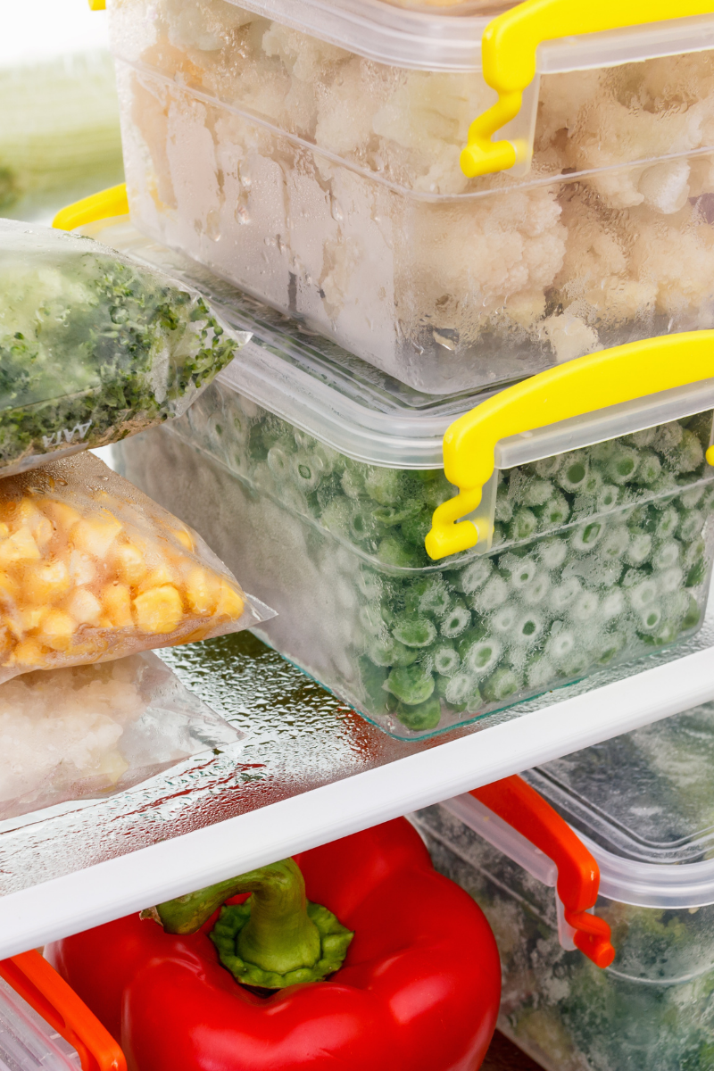 organised freezer