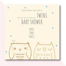 Twins  baby shower invitation