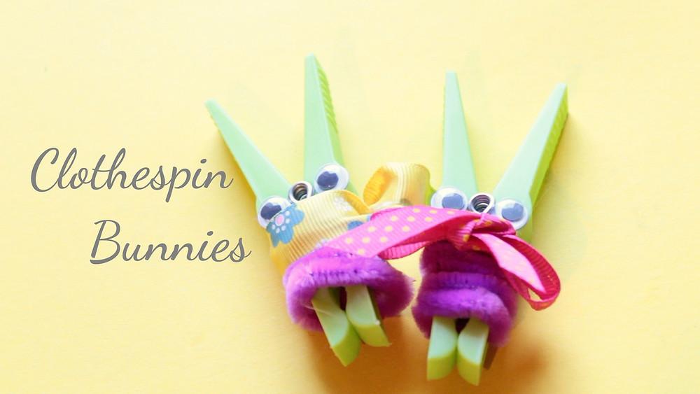 DIY Clothespin Bunnies for Easter