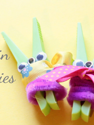 Clothespin Bunnies for Easter