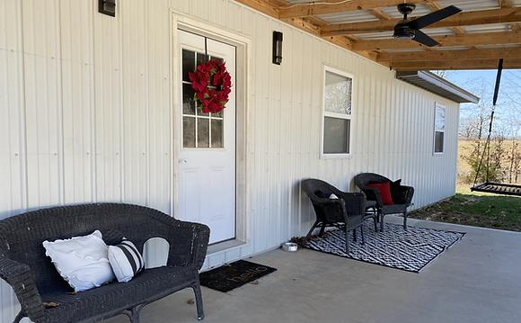 Porch of HIEC home