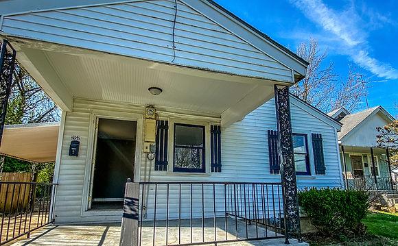 Porch of a rental property