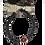 Thumbnail: Bracelet de lave diamètre 6 avec une perle en bois de tamarin.