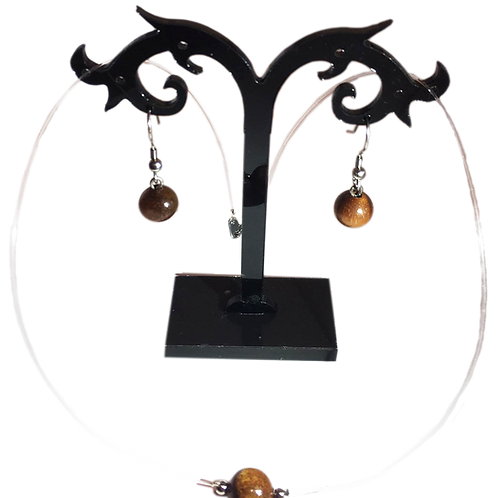 Parure en perle de tamarin sur fil