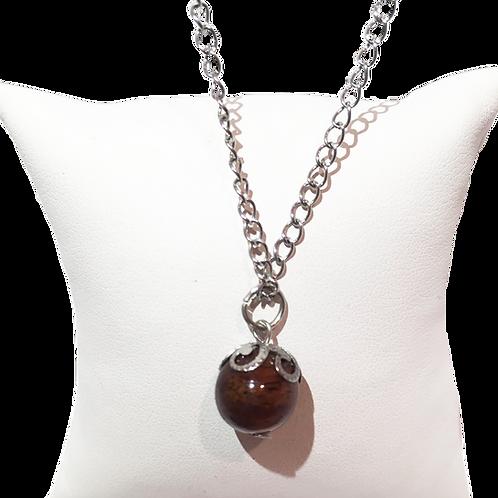 Pendentif perle de tamarin sur chaîne
