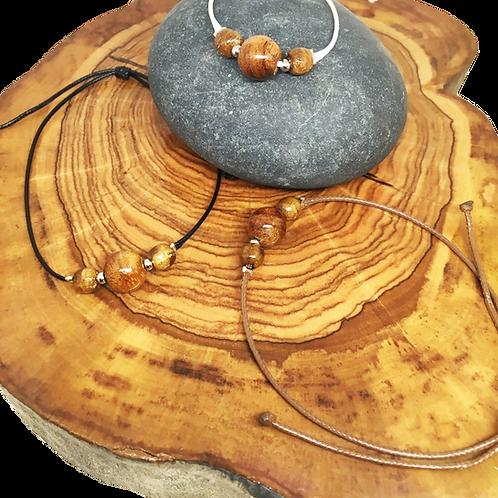 Bracelet trois perles tamarin