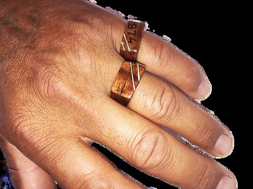 Chevalière en bois de tamarin