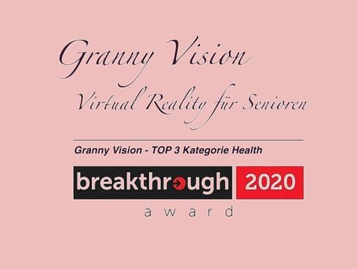 Granny Vision unter den Top3 des breakthrough Award 2020