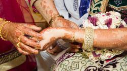 Wedding jewellery and bangle bracelet