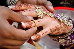 the exchange of rings between bride and groom
