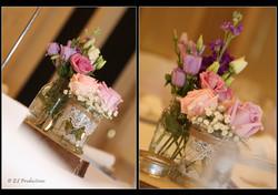 Wedding table decoration flowers bouquet