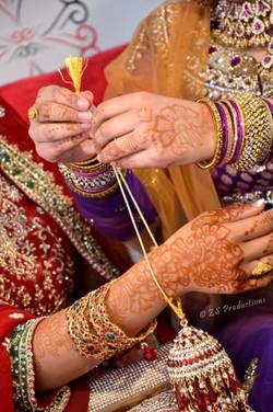Kangna ceremony during a Pakistani wedding in Bradford